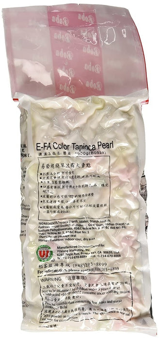 E-Fa Color Rainbow Boba Tapioca Pearls for Bubble Milk Tea 2.2LB (1 Kg)