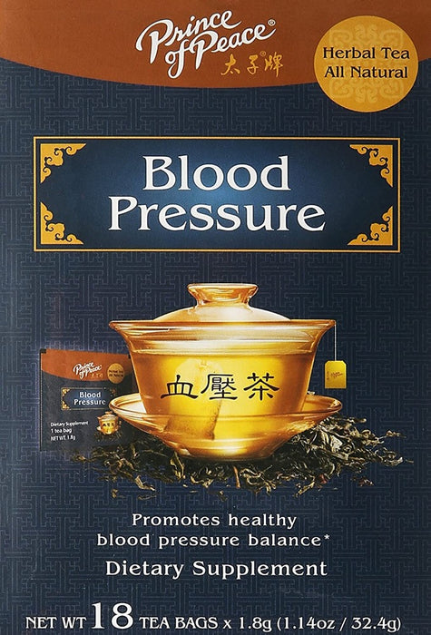 Prince of Peace Blood Pressure Herbal Tea 18 Tea Bags X 1.8 g (1.14 Oz/32.4 g)