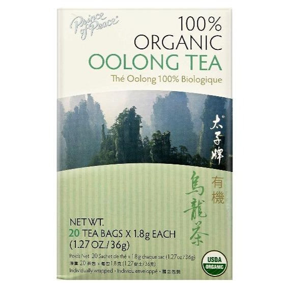 Prince Of Peace Organic Oolong Tea 20 Tea Bags X 1.8 g (1.27 Oz/36 g)