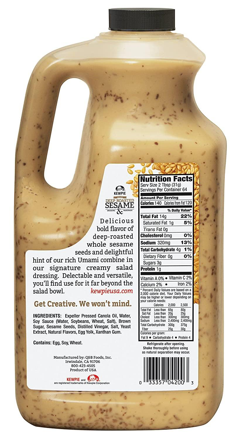 KEWPIE Creamy Deep Roasted Sesame Dressing 64 FL Oz (1.89 L)