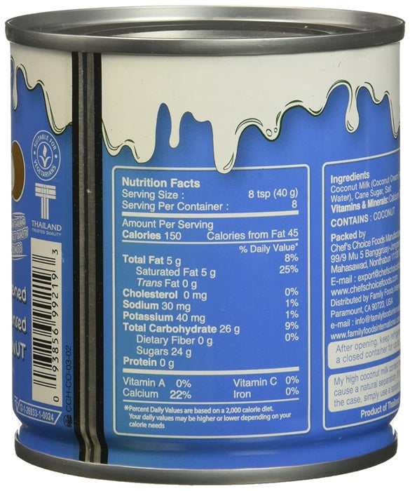 Nature's Charm Sweetened Condensed Coconut Milk 11.25 Oz (320 g)