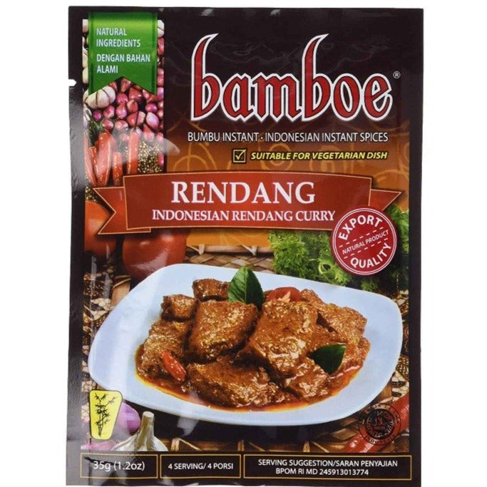 Bamboe Rendang Indonesian Instant Dry Curry Paste 1.2 Oz (35 g)