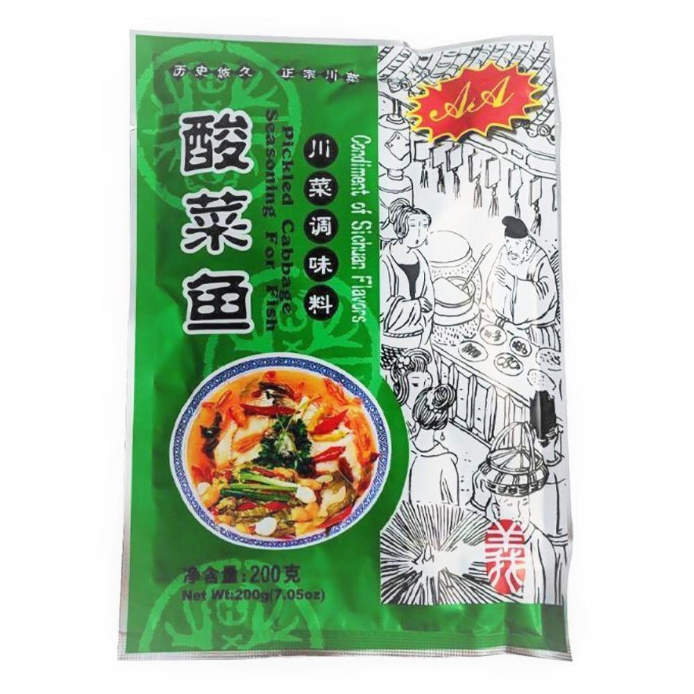 AA Fish Seasoning Mixed with Pickled Cabbage Flavor 7.05 Oz (200 g) - 酸菜鱼