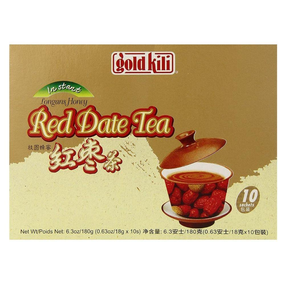 Gold Kili Instant Red Date Tea with Longan and Honey 10 Sachets 6.3 Oz (180 g) - 红枣茶