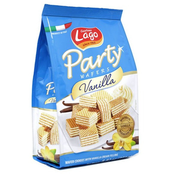 Gastone Lago Party Italian Vanilla Sweet Wafers | Vanilla Biscuits 8.82 Oz (250 g)