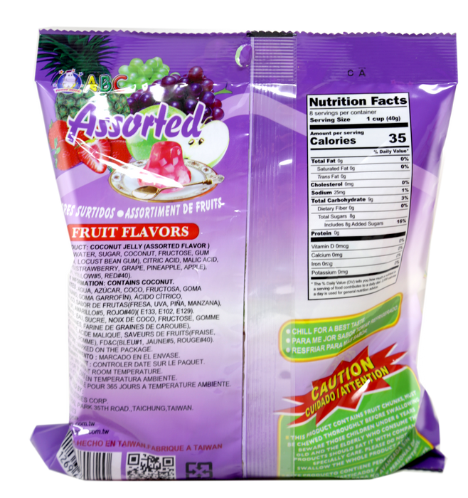 ABC Jelly Natural Fruit Snacks Assorted Flavors 10.5 Oz (300 g)