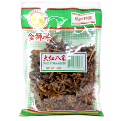 Golden Lion Dried Star Anise 3 Oz