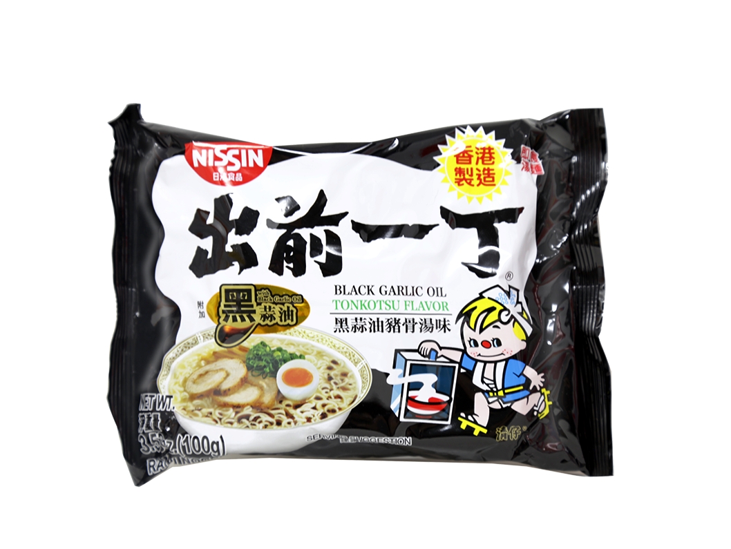 Nissin Instant Black Garlic Ramen Noodles with Soup Base 3.5 (100 g)