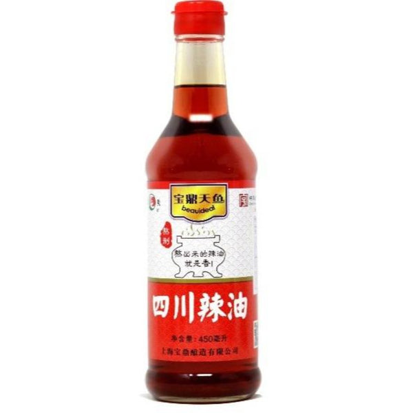 China Time Honored Brand Sichuan Chili Oil 450ml (15.2 Oz) - 宝鼎天鱼四川辣油