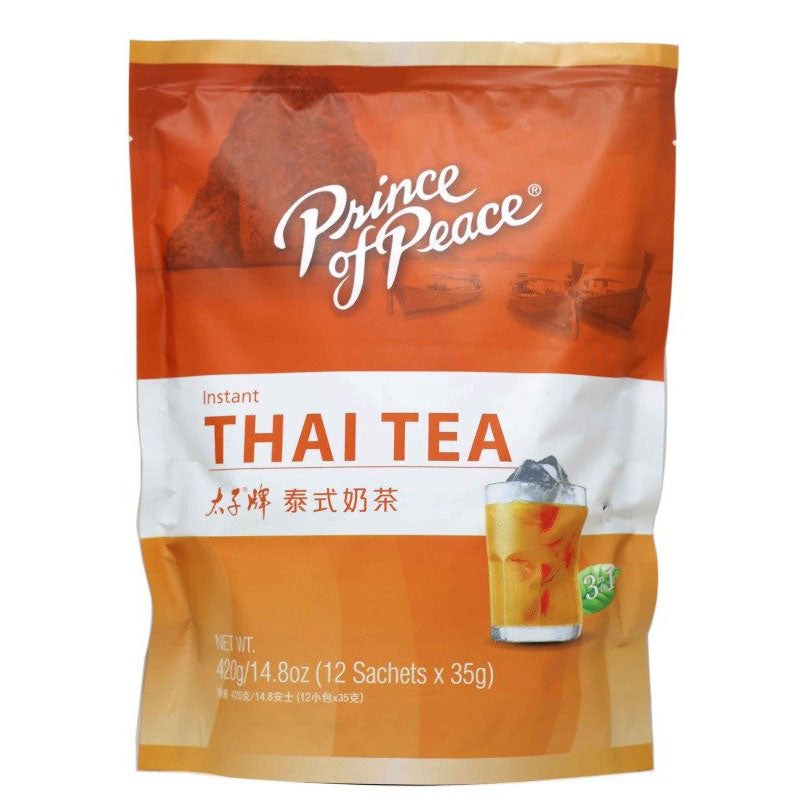 Prince Of Peace Instant 3 in 1 Thai Tea 14.8 Oz (420 g) 12 Sachets