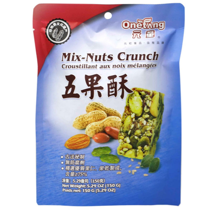 OneTang Mix Nuts Crunch Snack 5.29 Oz (150 g) - 元童五果酥