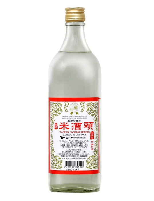 Taiwan TTL Rice Cooking Wine - Cooking MiChiu 25 FL OZ (750 mL) - 台湾工蕒局米酒头