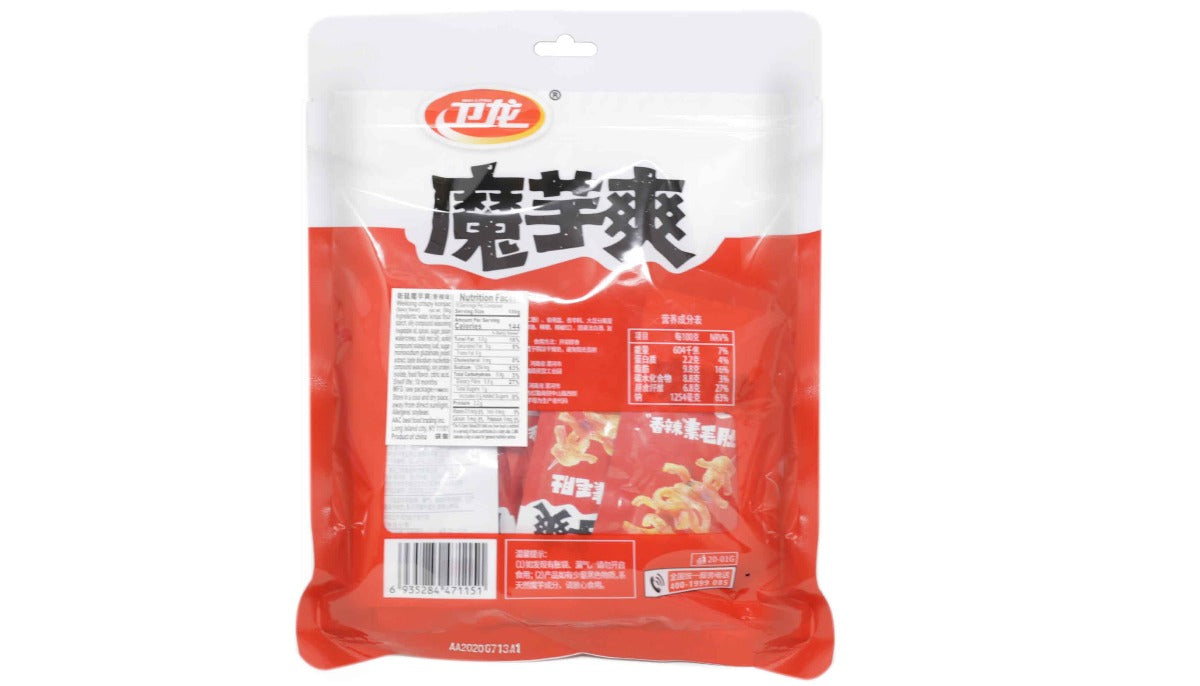 WEILONG Authentic Chinese Spicy Flavor Crispy Konjac 10 Pieces 180 g - 卫龙魔芋爽香辣味