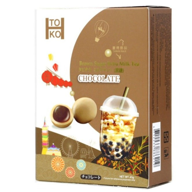 TOKO Brown Sugar Boba Milk Tea filled Chocolate Sweets 1.58 Oz (45 g) - 黑糖珍珠奶茶巧克力