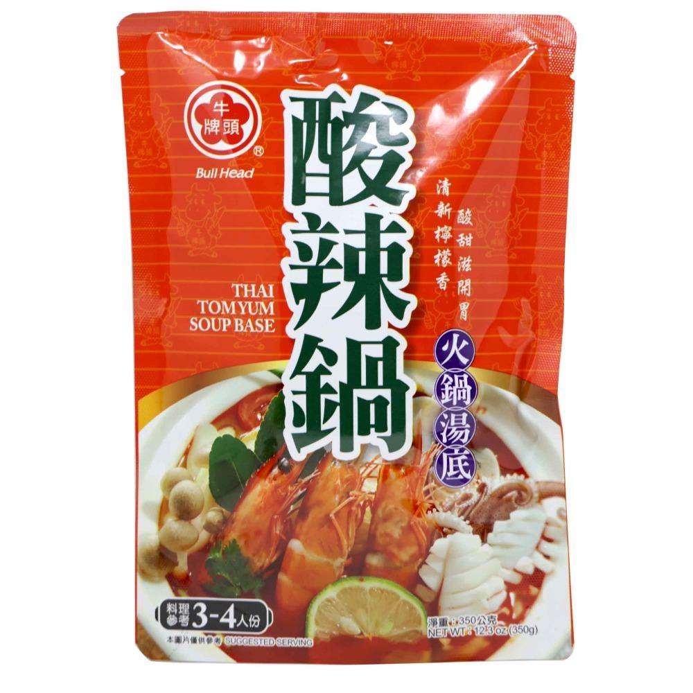 Bull Head Thai Tom Yum Hot Pot Soup Base 12.3 Oz (350 g) - 牛头牌酸辣锅火锅汤底 12.3 Oz