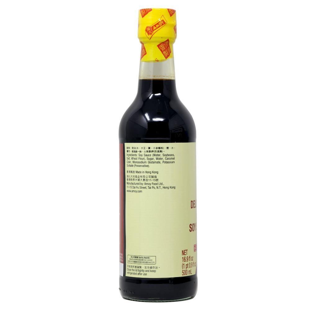 Amoy Delicious Light Soy Sauce 16.9 FL Oz (500 mL) - 淘大鲜味生抽