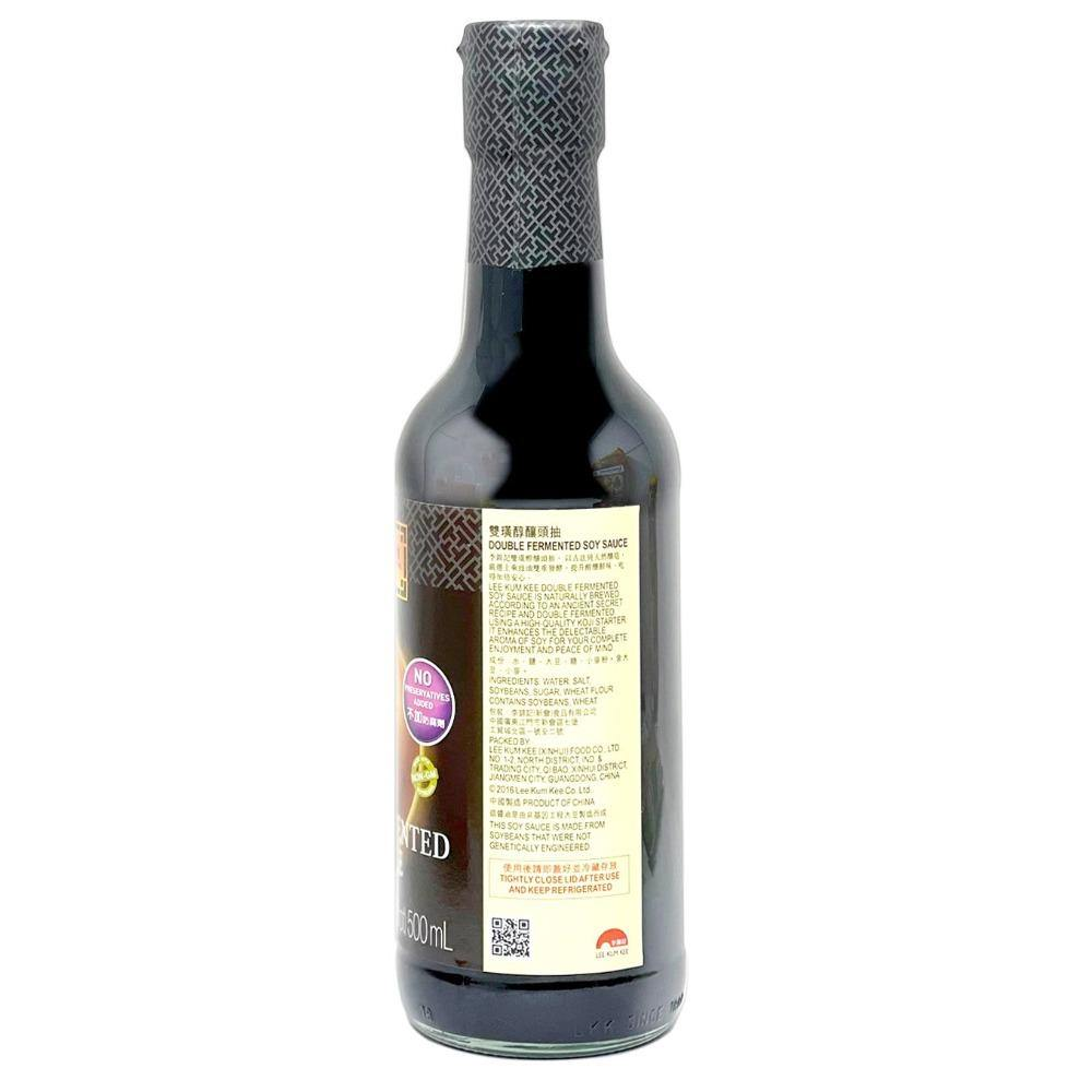LEE KUM KEE Double Fermented Soy Sauce 16.9FL Oz (500 mL) - 李锦记 双璜头抽