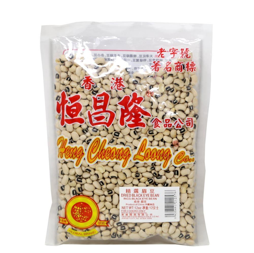 Heng Cheong Loong Dried Black Eyed Beans 12 Oz - 恒昌隆 精选眉豆 12 Oz