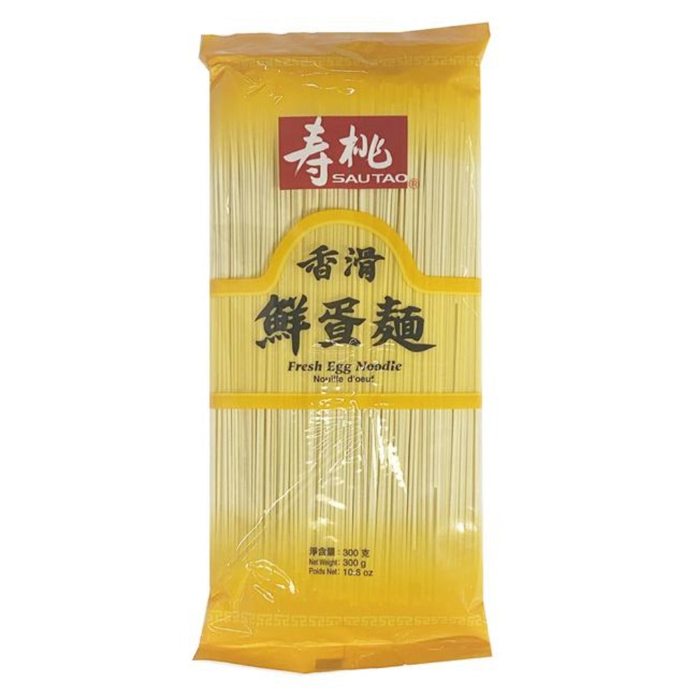 SAUTAO Fresh Egg Non-Fried Noodles 10.5 Oz (300 g) - 寿桃鲜蛋面