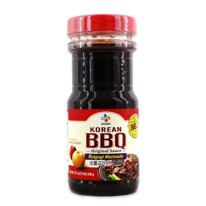 CJ Foods Korean BBQ Bulgogi Marinade Original Sauce 29.7 Oz (1.9LBS) 840 g
