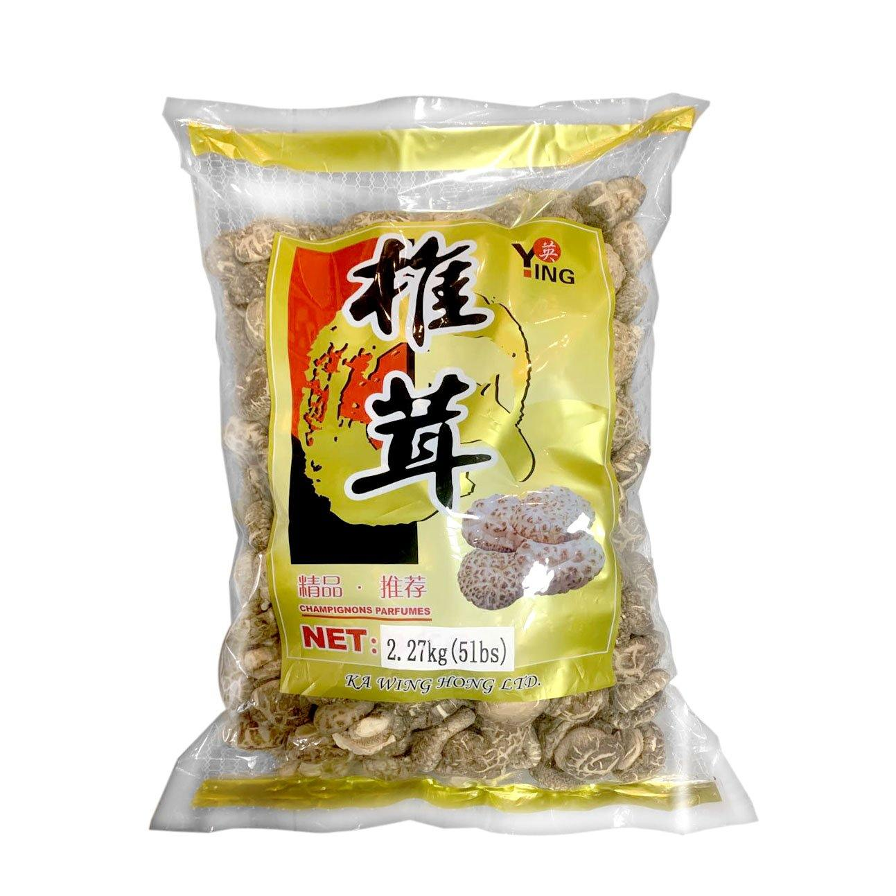 Ying Dried Shiitake Mushrooms 5.1 LBS (2.27 Kg) - 英牌椎茸 2.27 Kg