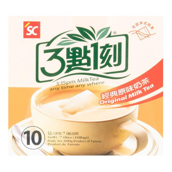 3:15PM Original Instant Taiwanese Milk Tea 10 Bags 7.06 Oz (200 g)