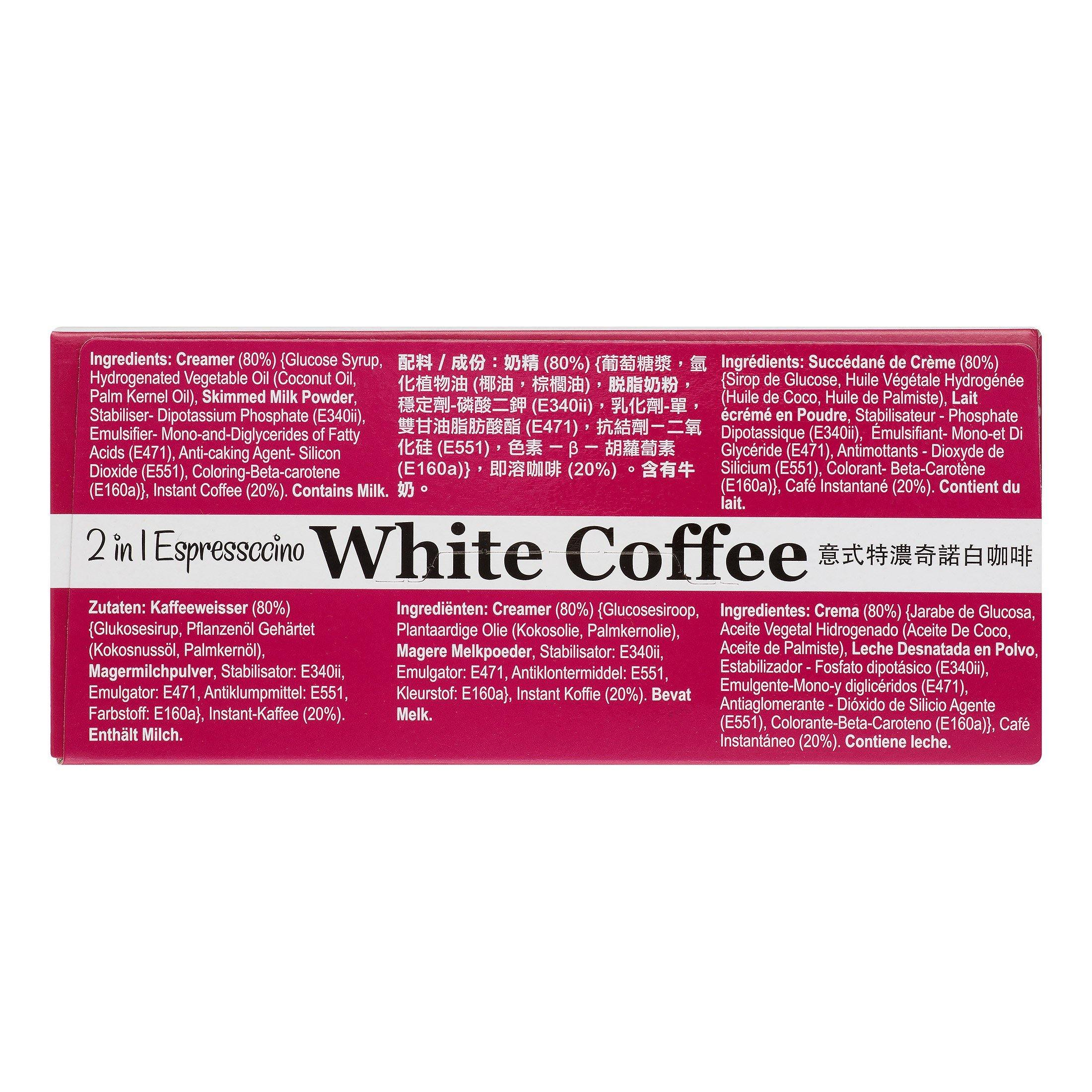 Gold Kili 2 in 1 Espressccino White Coffee 6.3 Oz (180 g) - 金麒麟2in1意式特濃奇諾白咖啡10包入6.3 Oz
