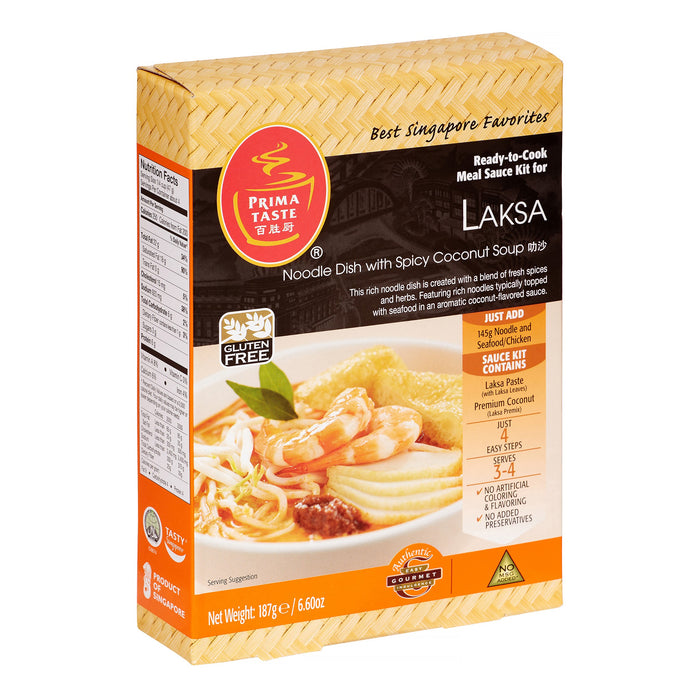 Prima Taste Laska Paste Ready to Cook Meal Sauce Kit 6.6 Oz (187 g)