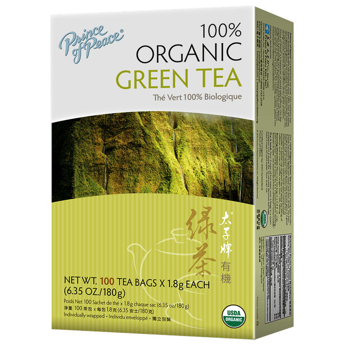 Prince of Peace Organic Green Tea 100 Tea Bags (6.35 Oz/180 g)