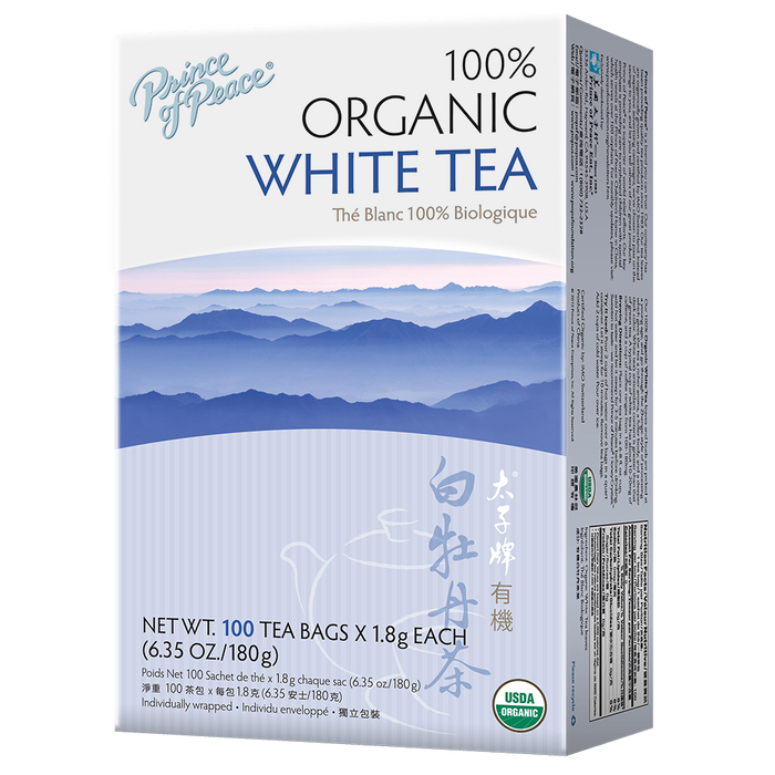 Prince of Peace Organic White Tea 100 Tea Bags X 1.8 (6.35 Oz/180 g)