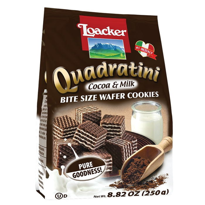 Loacker Quadratini Cocoa & Milk 8.82 Oz (250 g)
