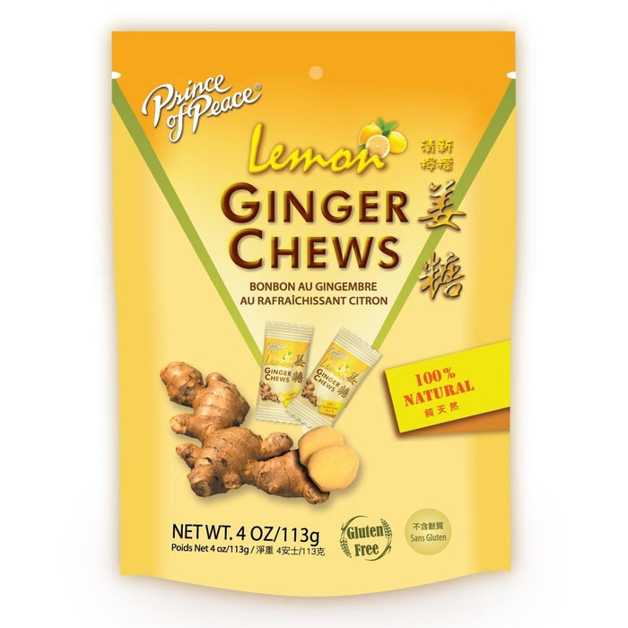 Prince of Peace Ginger Candy (Chews) with Lemon 4 Oz (113 g)