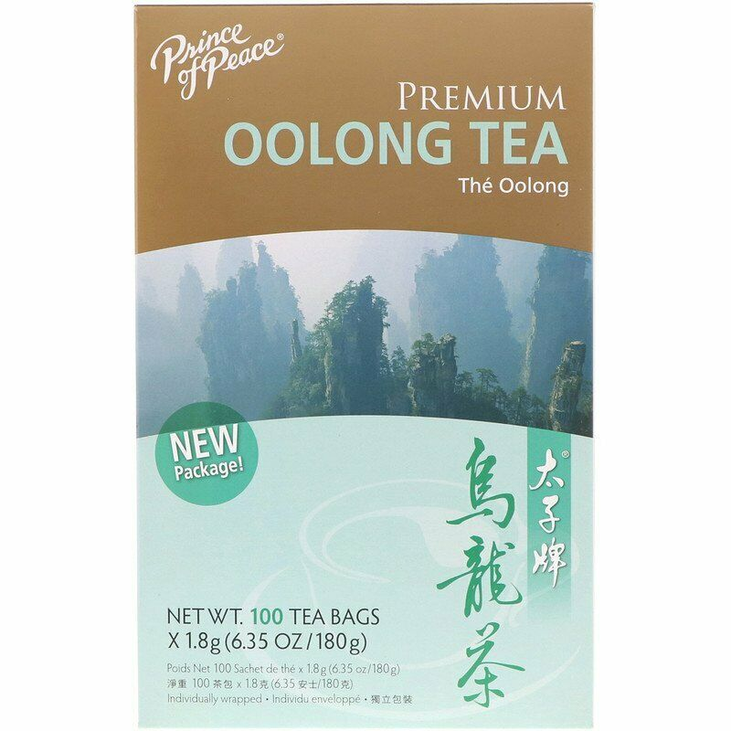 Prince of Peace Premium Oolong Tea 100 Tea Bags X 1.8 g (6.35 Oz/180 g)