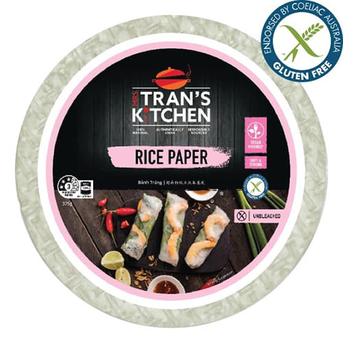 Mrs. Tran's Kitchen Original Rice Paper Vietnamese Spring Roll Wrapper 8.25 inches 375 g