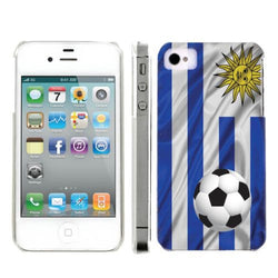 Apple Iphone 4/4S World Cup Case  - Uruguay Flag with Soccer Ball