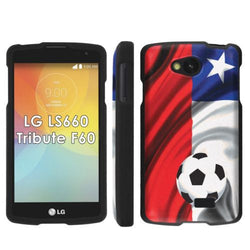 LG Tribute LS660 F60 Transpyre Slim Case  - Chile Flag with Soccer Ball