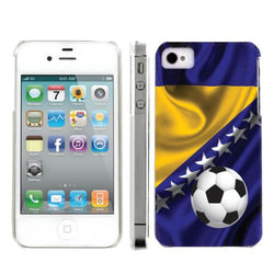 Apple Iphone 4/4S World Cup Case  - Bosnia And Herzegovina Flag with Soccer Ball
