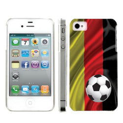 Apple Iphone 4/4S World Cup Case  - Germany Flag with Soccer Ball