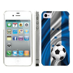 Apple Iphone 4/4S World Cup Case  - Honduras Flag with Soccer Ball