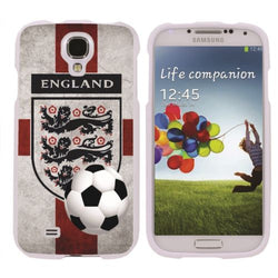 Samsung Galaxy S4 Slim Guard Protect  - England Flag with Soccer Ball