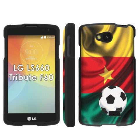 LG Tribute LS660 F60 Transpyre Slim Case  - Cameroon Flag with Soccer Ball