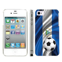 Apple Iphone 4/4S World Cup Case  - Nicaragua Flag with Soccer Ball