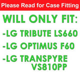 LG Tribute LS660 F60 Transpyre Slim Case  - Carbon Shocker