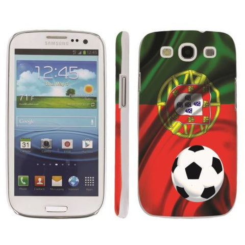Samsung Galaxy S3 Snap On Art Design Case  - Portugal Flag with Soccer Ball