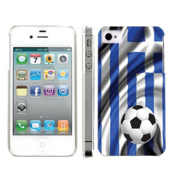 Apple Iphone 4/4S World Cup Case  - Greece Flag with Soccer Ball