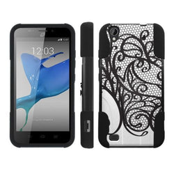 Mobiflare Kickstand Case for ZTE Z797 Quartz  - Black Lace