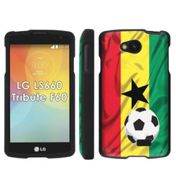 LG Tribute LS660 F60 Transpyre Slim Case  - Ghana Flag with Soccer Ball