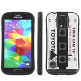 Samsung Galaxy S5 Armor Hybrid Kick Grip Case  - 4AGZE Super Charger JDM