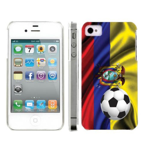 Apple Iphone 4/4S World Cup Case  - Ecuador Flag with Soccer Ball