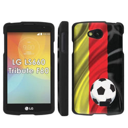 LG Tribute LS660 F60 Transpyre Slim Case  - Germany Flag with Soccer Ball
